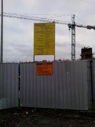 tablica na budowie